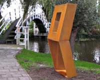 cor-ten stalen beeld van Niko de Wit uitgevoerd door Segno 'd Arte