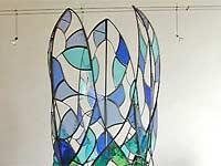 2007 - Lia Koster 'de reiziger' - glas in lood in staal
